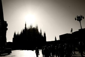 a church in Milano. by micfoto