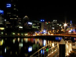 City of Melbourne - At Night by dzign-art