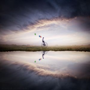 Lost green balloon by Alshain4