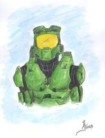 Master Chief in Colour by jlel