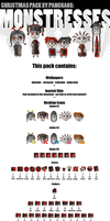 Monstresses pack by ssst
