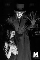 Babadook and Tomie outside by PulpAddedCosplay