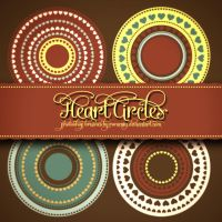 Lovely Hearts Circles Free Brushes by Romenig
