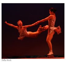 Chinese Acrobat Roller Girls 4 by Della-Stock