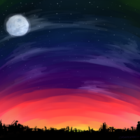 sunset sky. by Tachanne