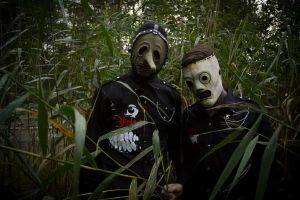 Slipknot Cosplay - Corey and Chris in the bushes! by Hexalot