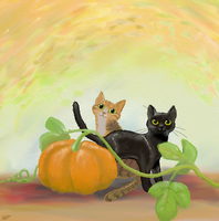 Pumpkin Kitties by gifdot