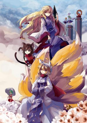 Touhou : Yakumo Family by ClearEchoes