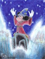 Mickey Sorcerer - The Sorcerer's Apprentice by Violet-the-Siberian