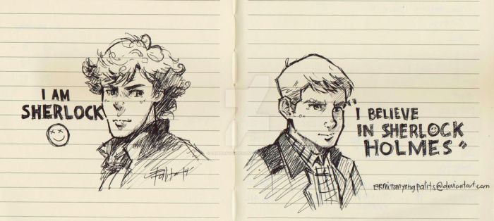John and Sherlock by ermitanyongpalits