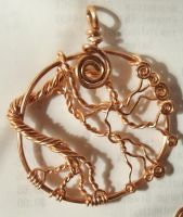 Copper Tree of Life Pendant by artefaccio
