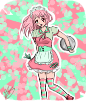Contest Entry ~Pink and Greeny Blue~ by PinkStrawberryKitty