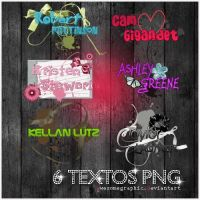 6 textos PNG by awesomegraphic