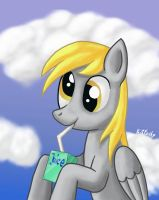 Derpy with juice box by Kitfuchs