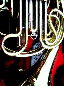 French horn COLOUR by Inesita88