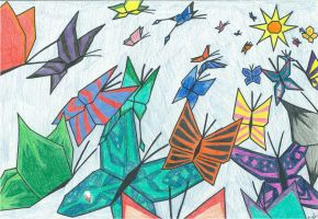 Fly Away: Cubism by Mowo64