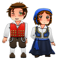 [HETAOC] Bosnia and Herzegovina Chibis by melonstyle
