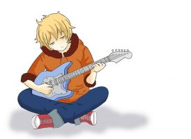 Kenny plays the guitar by FuckinCrazyGirl
