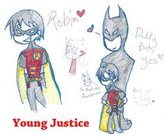 Young Justice Robin Batman daddy Bats by Kittychan2005