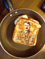 Grilled Hitler, Egg aNd Cheese by royaldarkness