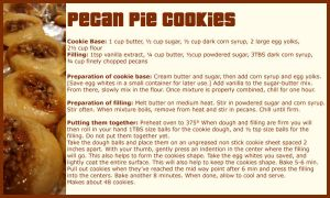 Pecan Pie Cookies - Recipe by limeykat