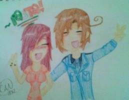My BFF Katie and Italy -from Hetalia- by CydneyJones