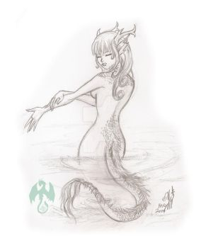 Sketch: Kaida by Lil1Dragon