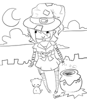Witch Chibi by Buried-Above-Love