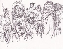Highschool Exorcists: Demon Sketches by magusVroth