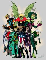 New Young Avengers Color Flats by TheCreationist