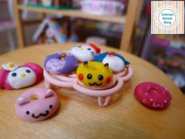 New animal doughnuts by LittlestSweetShop