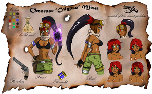 Omorose (Calypso) Ref. Sheet. by Pharaoh009