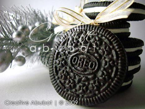 Faux Oreo Cookie Ornaments 03 by CreativeAbubot
