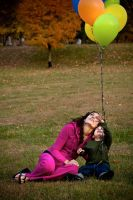 Balloons Grass by cmarhoover
