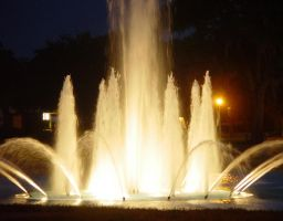 UCF Fountain at Night #89 by darenw