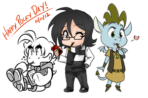 Pocky Day Collab by EarthGwee