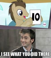 Comic: Doctor Whooves and David Tennant by DoctorWhoovesART