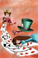 Cover Alice in Wonderland by poisonillustration