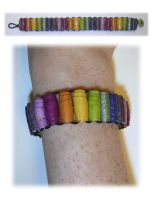 Rolled Paper Bead Bracelet by johannachambers