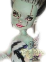 Monster High Frankie Stein Repaint #3 by RogueLively