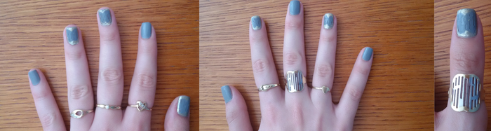 vintage ring inspired nails by AvyLance