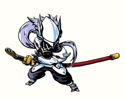 BlazBlue Fanart: Hakumen Color by burntmoth19