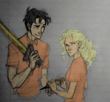 Percy Jackson and Annabeth Chase--Burdge Bug by Gi1997