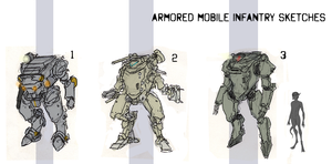 Powered Infantry Sketches by Zaeta-K