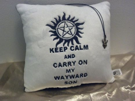 SPN pillow and pendant set by NerdyMind
