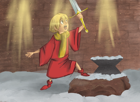 SWORD IN THE STONE by RoxasSauce
