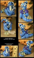 Blue Crystal Hoarding Dragon by CatharsisJB