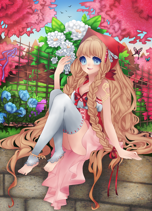 Garden -Lineart- -Colored-