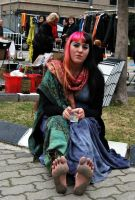 Barefoot gypsy in flea market by GypsyBarefootCecilia
