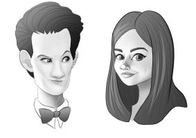 The doctor and clara Oswald by Emmi-Lou-Art